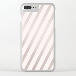 Rose Gold and Pink Diagonal Stripes Clear iPhone Case