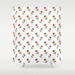 Sarah Mills Popsicle Shower Curtain