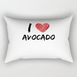I Love Avocado Rectangular Pillow