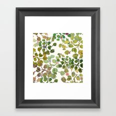 water color garden with flowers! ( Framed Art Print
