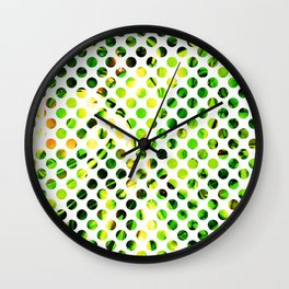 Fluid Dot (Green Version) Wall Clock