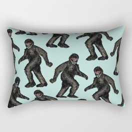 Sasquatch Sighting   Bigfoot Encounter Pattern   Wild Animals Rectangular Pillow