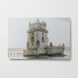Fortress in the Water Metal Print