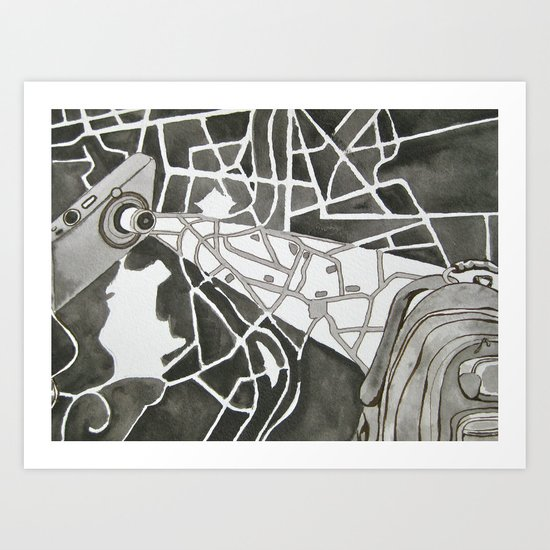 Point A to Point B Art Print
