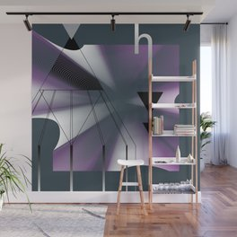 Abstract composition with shapes and colors 013 Wall Mural