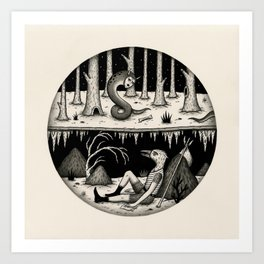 Hide Away Art Print