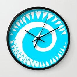 Round Scream in Blue Wall Clock