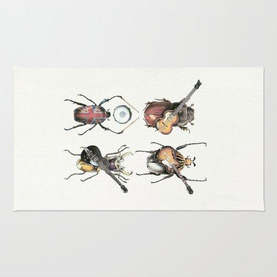 Meet the Beetles (white option) Rug