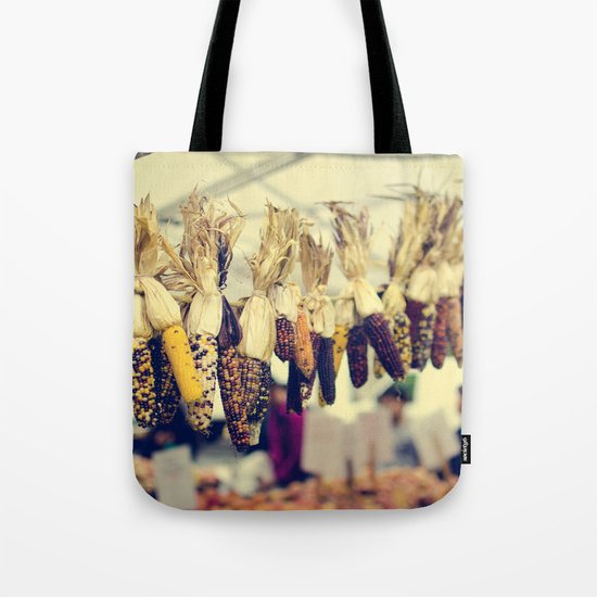 Indian Corn at the Farmers Market Tote Bag