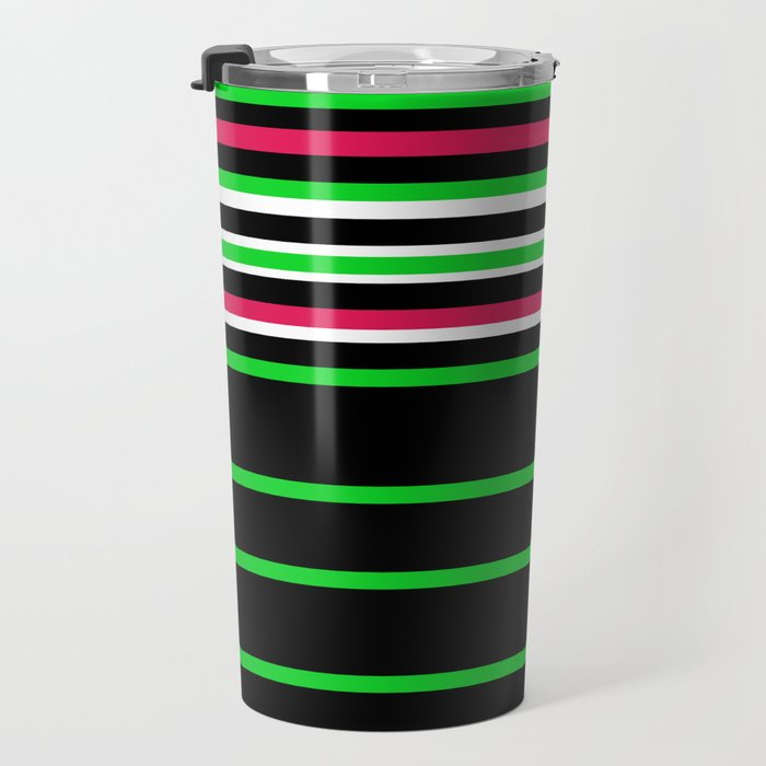 Bright Stripes II Travel Mug