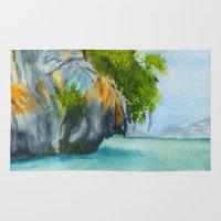 island Area & Throw Rugs featuring Island by Cro_Ki