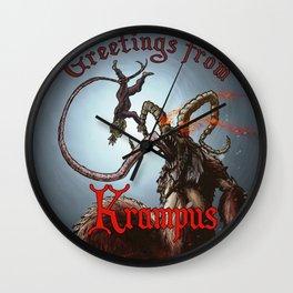 Greetings from Krampus Wall Clock