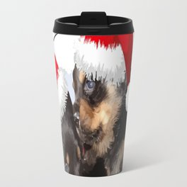 Puppy White Christmas I Saw Mummy Kissing Santa Claus Travel Mug
