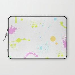 Neon paint splatter 2 Laptop Sleeve