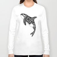 killer whale Long Sleeve T-shirts featuring Killer Whale by Emma Barker