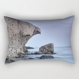 Half Moon Beach. Purple Sky. Eagle head Rectangular Pillow