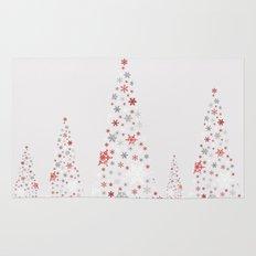 Snowflake Trees Rug