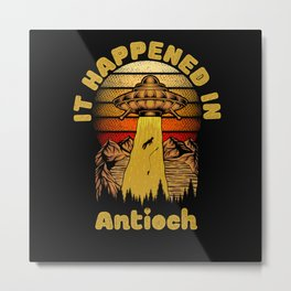 Alien UFO In Antioch City Metal Print