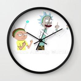 RICK AND MORTY SHIRT - PEACE AMONG WORLDS Wall Clock