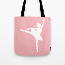 Pink and white Ballerina Tote Bag