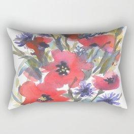 Big Poppy Field Rectangular Pillow