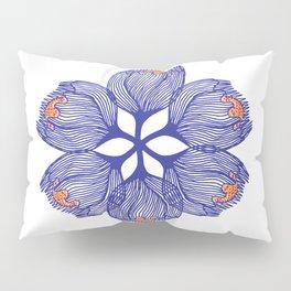 Blue spiral flower Pillow Sham