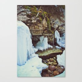 maligne canyon Canvas Print