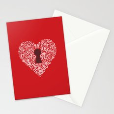 The Key To My Heart Stationery Cards