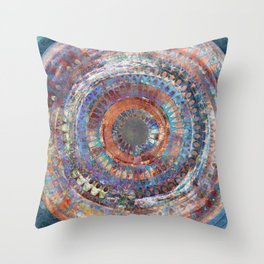 LA TURBINA MANDALA ART Throw Pillow