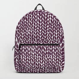 Hand Knit Plum Backpack