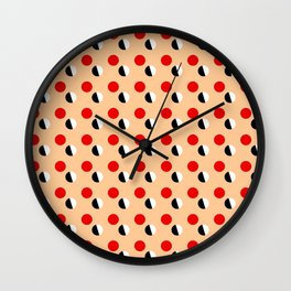 new polka dot 16- ceramic colors Wall Clock