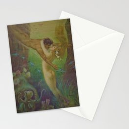 Undersea, The Mermaids Embrace by Frederic Helbing Stationery Cards