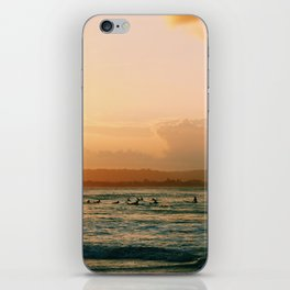 Byron Bay Sunset Surfers iPhone Skin