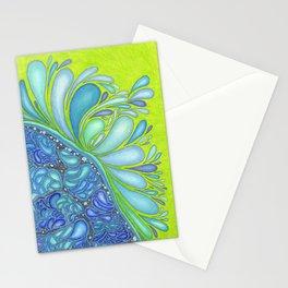 Aqua Splash Stationery Cards
