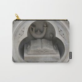 Bible and Oil Lamp 3D Stone Carving from Bethesda Terrace in Central Park, NYC Carry-All Pouch