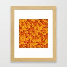 Autumn leaves #3 Framed Art Print