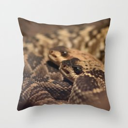 A Pair of Snake Eyes Throw Pillow
