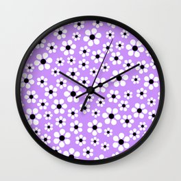 Dizzy Daisies - lavender - more colors Wall Clock