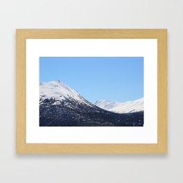Blue Sky and Snowy Mountain Top 2 Framed Art Print