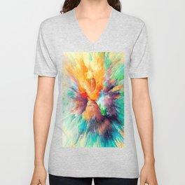 Multi color abstarct #society6 Unisex V-Neck