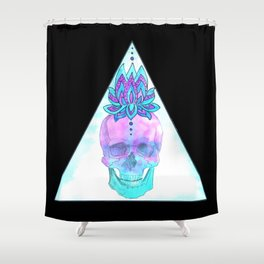 Sahasrara skull Shower Curtain