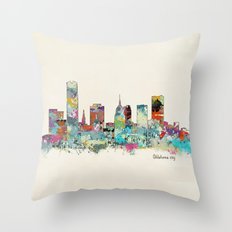 Oklahoma City Oklahoma skyline Throw Pillow