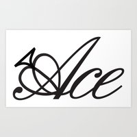ace Art Prints featuring Ace by Natalie Parnaby