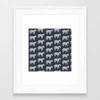 unicorns Framed Art Prints featuring Unicorns  by Katelyn Patton