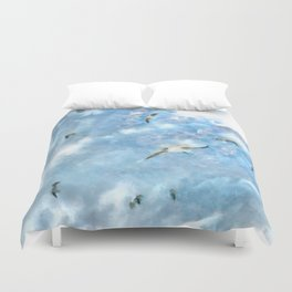 The Chasers - Seagulls In Flight Duvet Cover