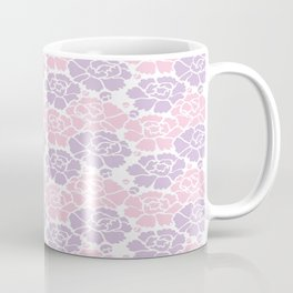 Japanese Wave of Flowers Blossoms Seamless Patterns Symbols Coffee Mug