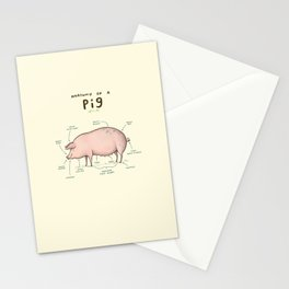 Anatomy of a Pig Stationery Cards