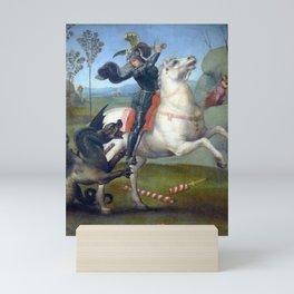 """Raffaello Sanzio da Urbino """"Saint George and the Dragon"""", 1503 - 1505 Mini Art Print"""