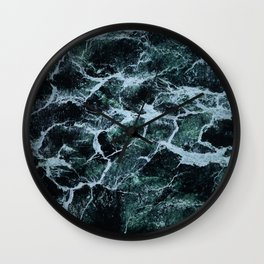Waves Marble (Color) Wall Clock