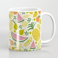 fruit Mugs featuring Fruit Mix by Anna Deegan